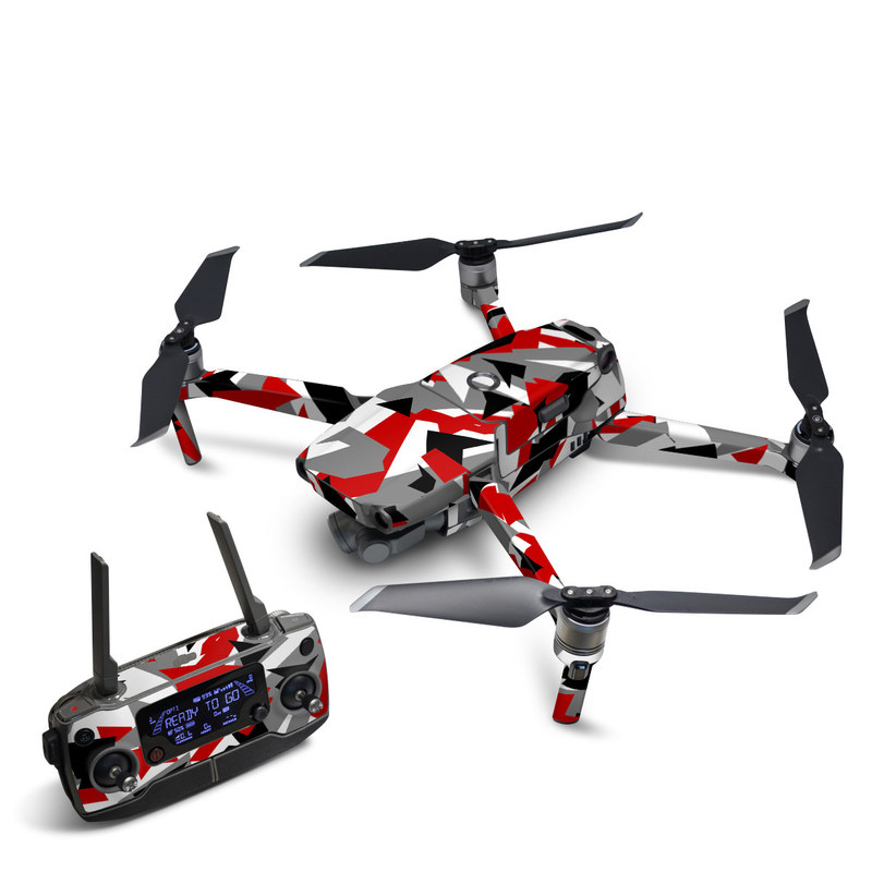 DJI Mavic 2 Skin design with red, white, black, gray colors