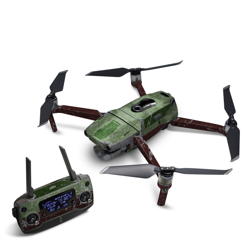 DJI Mavic 2 Skin design with red, green, gray colors