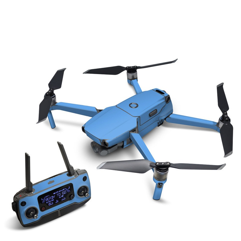 DJI Mavic 2 Skin design of Sky, Blue, Daytime, Aqua, Cobalt blue, Atmosphere, Azure, Turquoise, Electric blue, Calm with blue colors