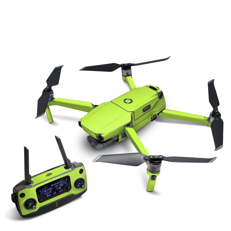 DJI Mavic 2 Skin design of Green, Yellow, Text, Leaf, Font, Grass with green colors