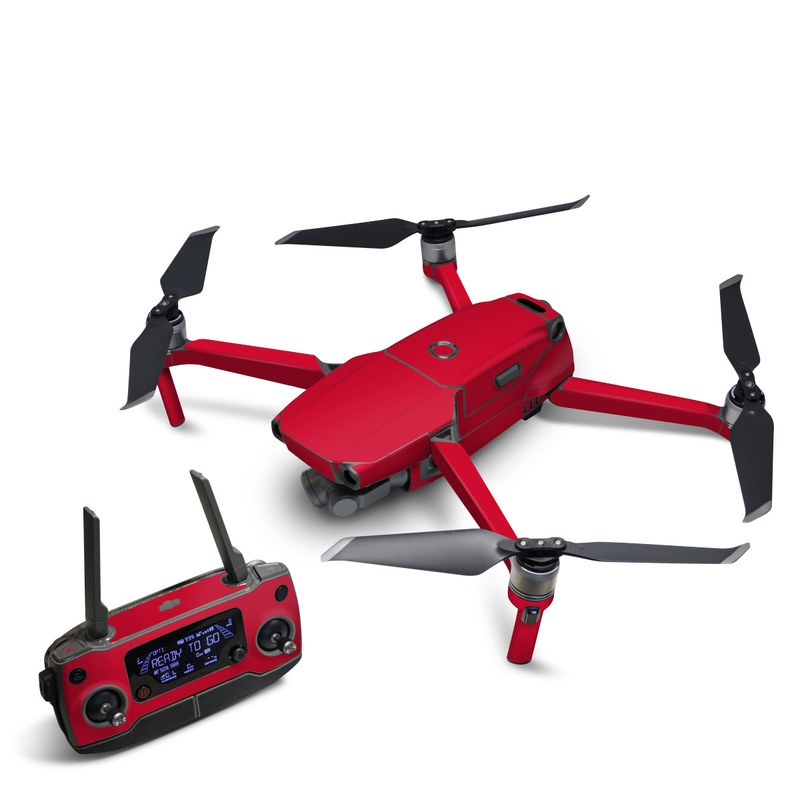 DJI Mavic 2 Skin design of Red, Pink, Maroon, Purple, Orange, Violet, Magenta, Material property, Font, Peach with red colors