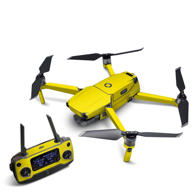 DJI Mavic 2 Skin design of Green, Yellow, Orange, Text, Font with yellow colors