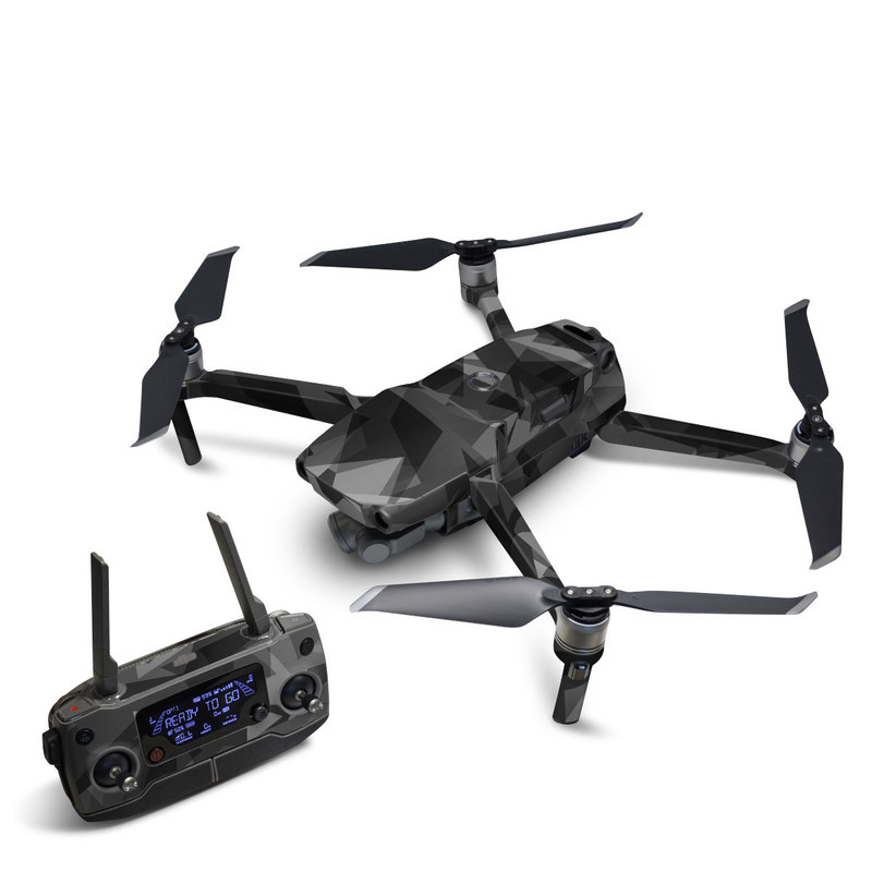 DJI Mavic 2 Skin design with black, gray colors
