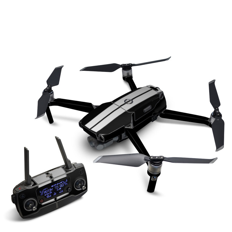 DJI Mavic 2 Skin design of Font, Architecture, Rectangle with black, gray colors
