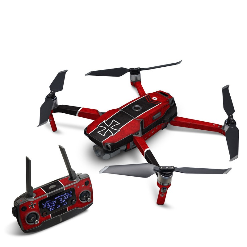 DJI Mavic 2 Skin design of Bullet, Holes, War, Red, Text, Carmine, Colorfulness, Maroon, Symbol, Coquelicot with red, black, white, gray colors