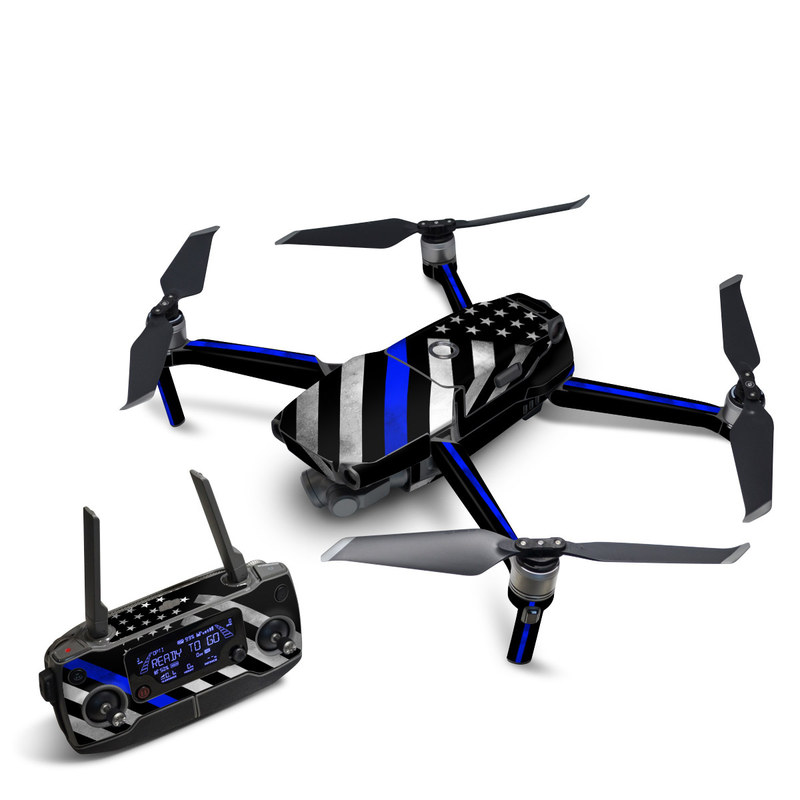 DJI Mavic 2 Skin design of Flag of the united states, Flag, Cobalt blue, Pattern, Line, Black-and-white, Design, Monochrome, Electric blue, Parallel with black, white, gray, blue colors