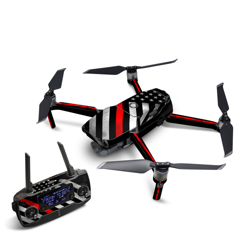 DJI Mavic 2 Skin design of Flag of the united states, Flag, Line, Black-and-white, Pattern, Flag Day (USA), Veterans day, Independence day, Memorial day with black, white, gray, red colors