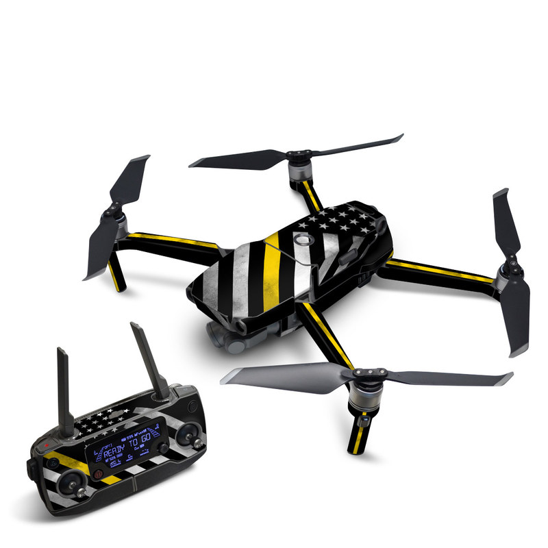 DJI Mavic 2 Skin design of Flag of the united states, Flag, Yellow, Line, Black-and-white, Pattern, Monochrome, Graphic design, Parallel with black, white, gray, yellow colors