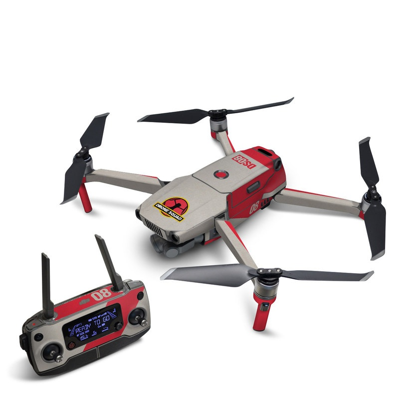 DJI Mavic 2 Skin design with red, gray, black, white, yellow colors