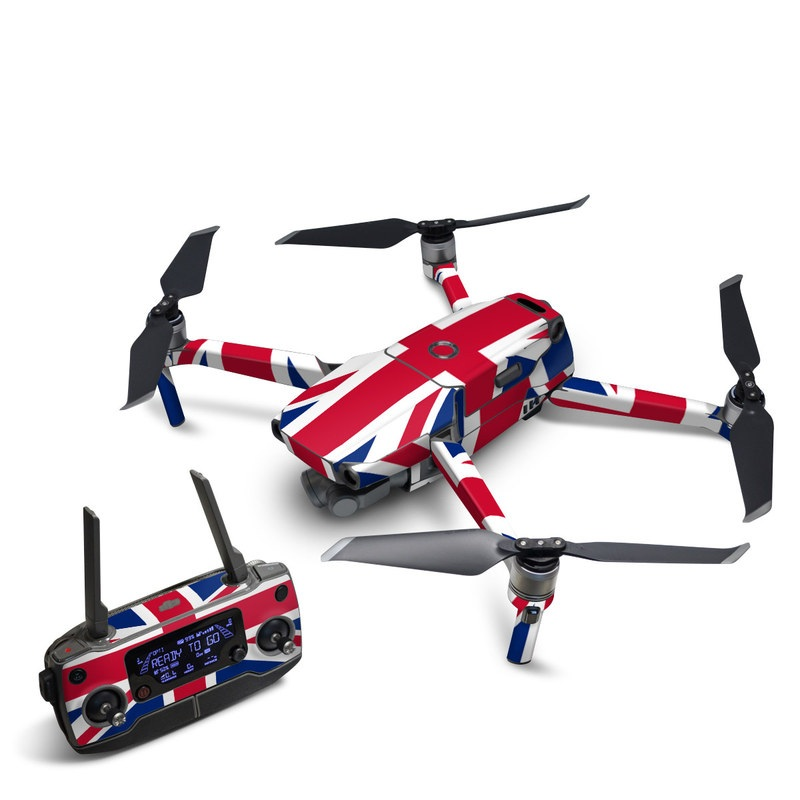 DJI Mavic 2 Skin design of Flag, Red, Line, Electric blue, Design, Font, Pattern, Parallel, Flag Day (USA) with red, white, blue colors