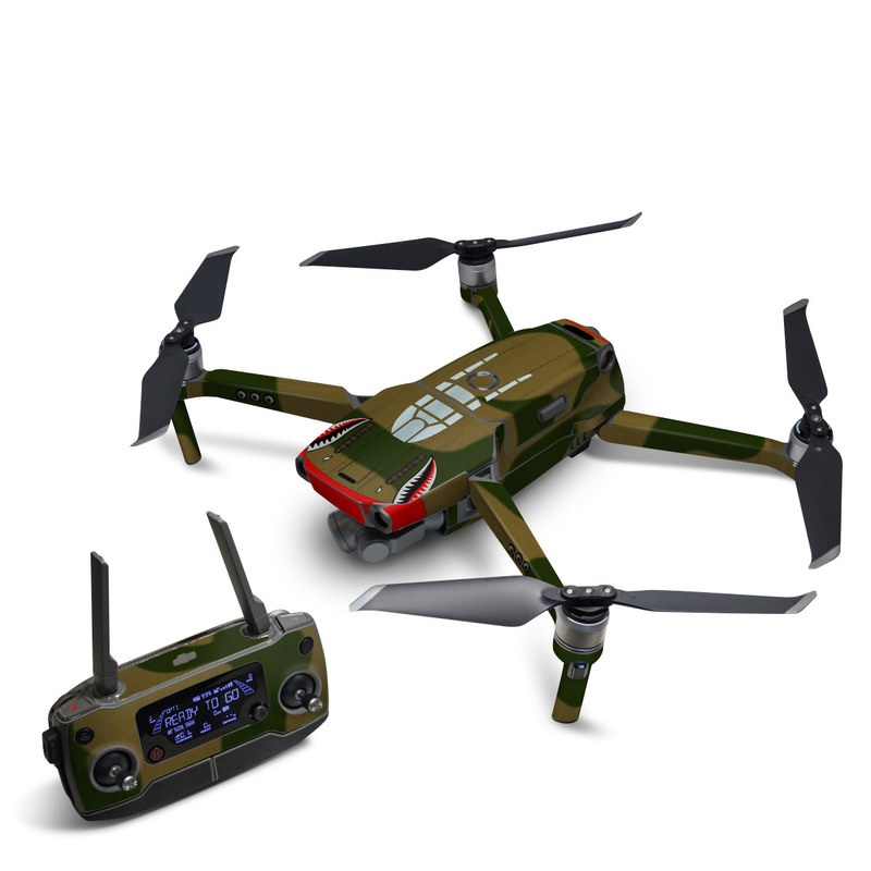 DJI Mavic 2 Skin design with green, red, white, black colors
