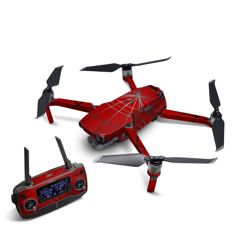 DJI Mavic 2 Skin design of Red, Symmetry, Circle, Pattern, Line with red, black, gray colors