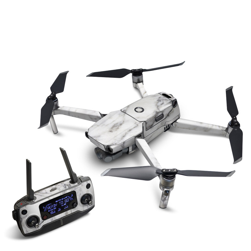 DJI Mavic 2 Skin design of White, Geological phenomenon, Marble, Black-and-white, Freezing with white, black, gray colors