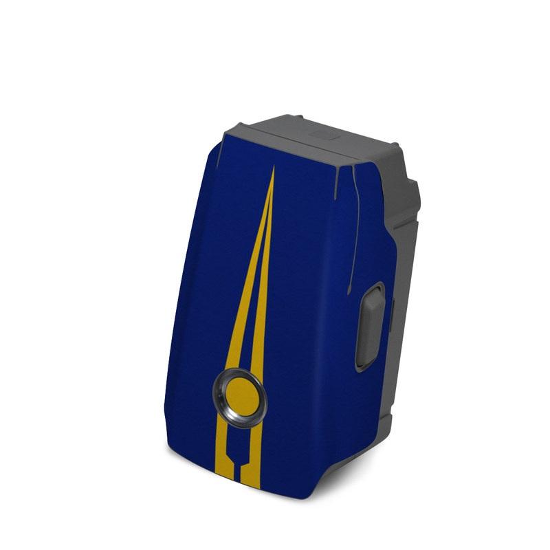 DJI Mavic 2 Battery Skin design with blue, yellow colors