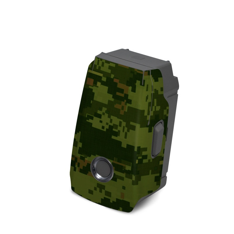 DJI Mavic 2 Battery Skin design of Military camouflage, Green, Pattern, Uniform, Camouflage, Clothing, Design, Leaf, Plant with green, brown colors