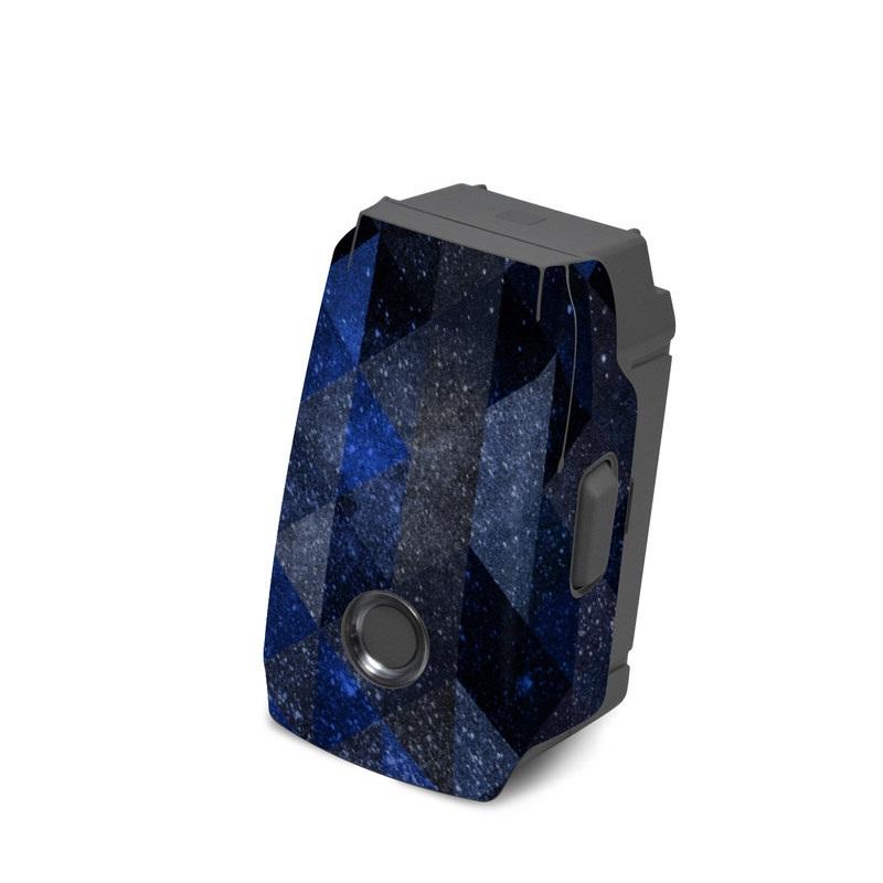 DJI Mavic 2 Battery Skin design of Text, Pattern, Graphic design, Font, Purple, Design, Line, Triangle, Logo, Graphics with black, blue, white colors