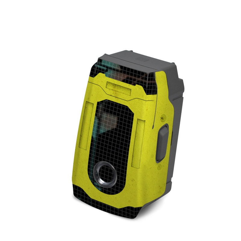 DJI Mavic 2 Battery Skin design of Yellow, Green, Font, Pattern, Graphic design with black, yellow, gray, blue, green colors