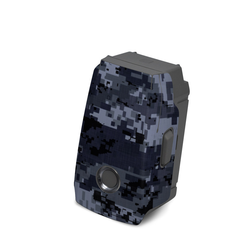 DJI Mavic 2 Battery Skin design of Military camouflage, Black, Pattern, Blue, Camouflage, Design, Uniform, Textile, Black-and-white, Space with black, gray, blue colors