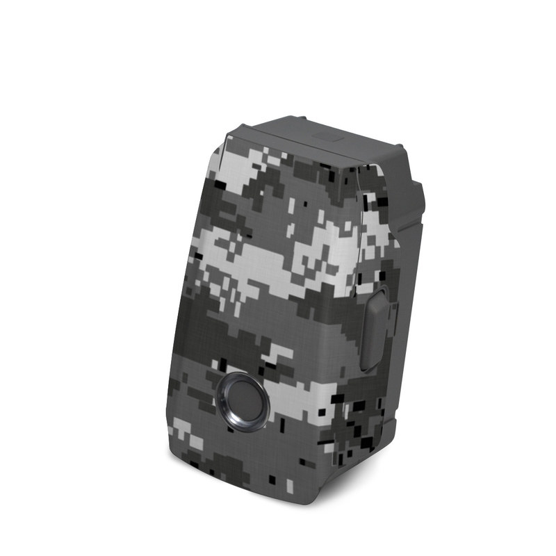 DJI Mavic 2 Battery Skin design of Military camouflage, Pattern, Camouflage, Design, Uniform, Metal, Black-and-white with black, gray colors