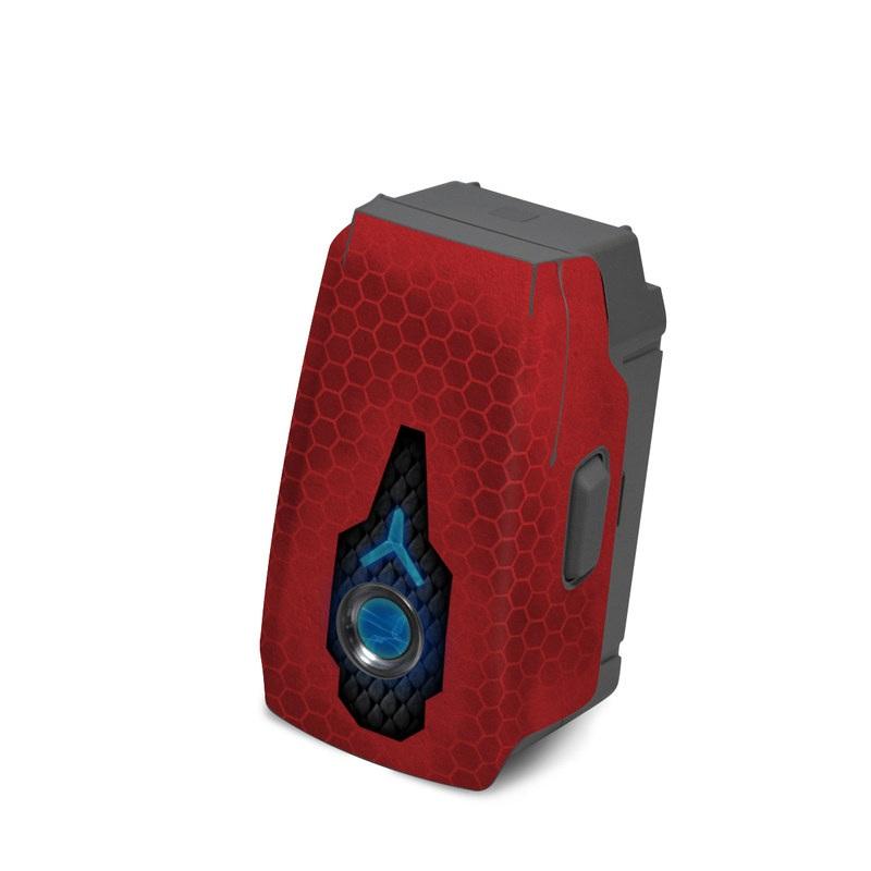 DJI Mavic 2 Battery Skin design with red, black, blue colors