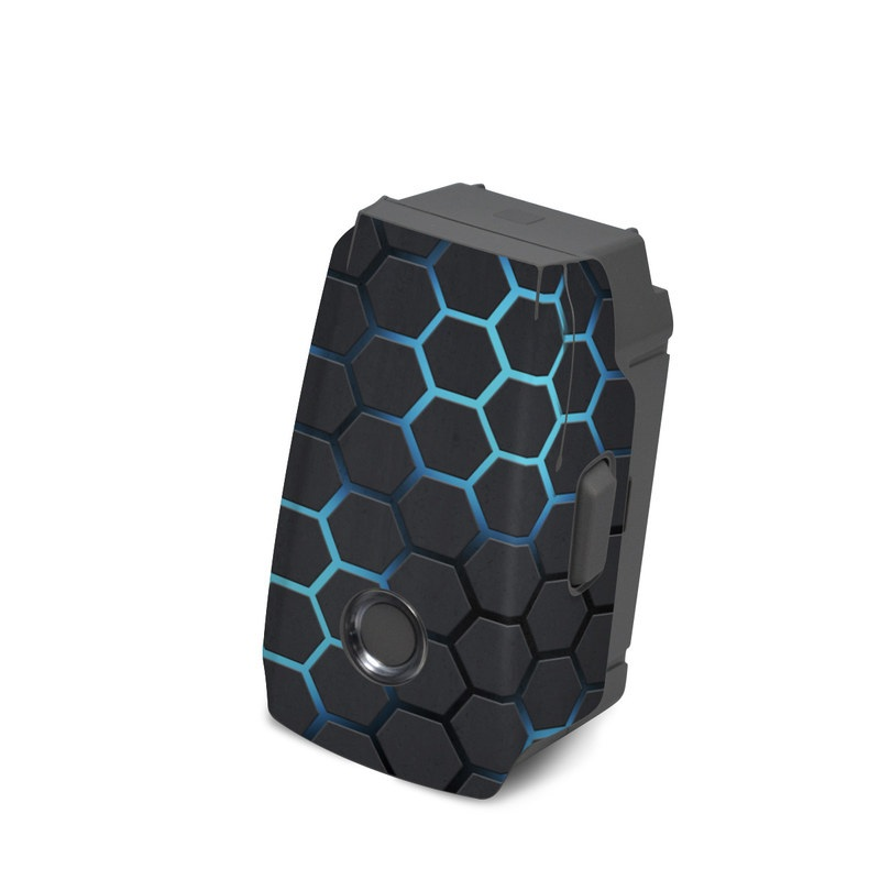 DJI Mavic 2 Battery Skin design with black, gray, blue colors