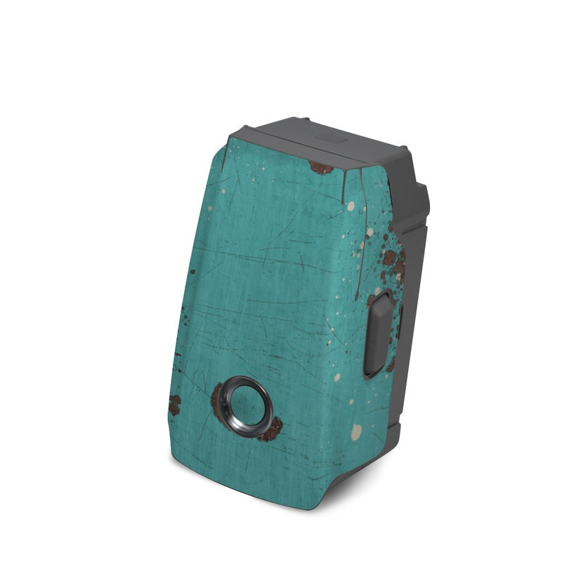 DJI Mavic 2 Battery Skin design with red, blue, gray, black colors