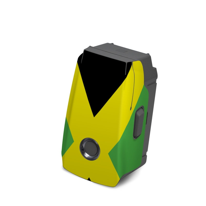 DJI Mavic 2 Battery Skin design of Green, Flag, Yellow, Macro photography, Graphics, Graphic design with black, green, yellow colors