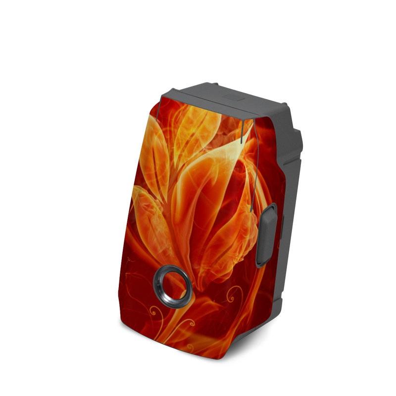 DJI Mavic 2 Battery Skin design of Flame, Fire, Heat, Red, Orange, Fractal art, Graphic design, Geological phenomenon, Design, Organism with black, red, orange colors
