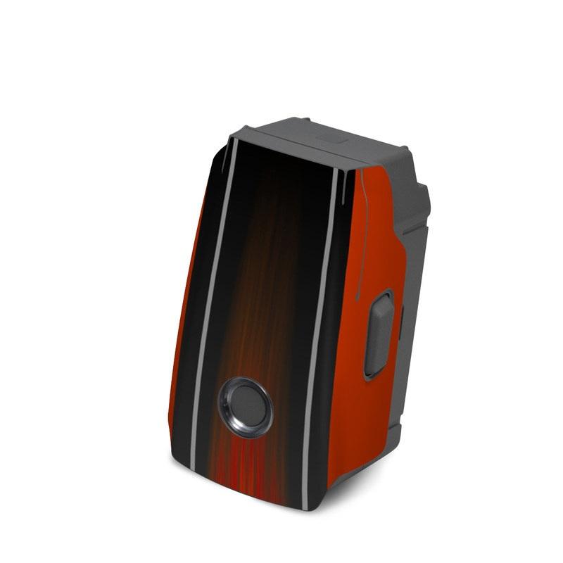 DJI Mavic 2 Battery Skin design of Orange, Red, Line, Material property, Rectangle, Automotive lighting with red, black, orange, gray colors