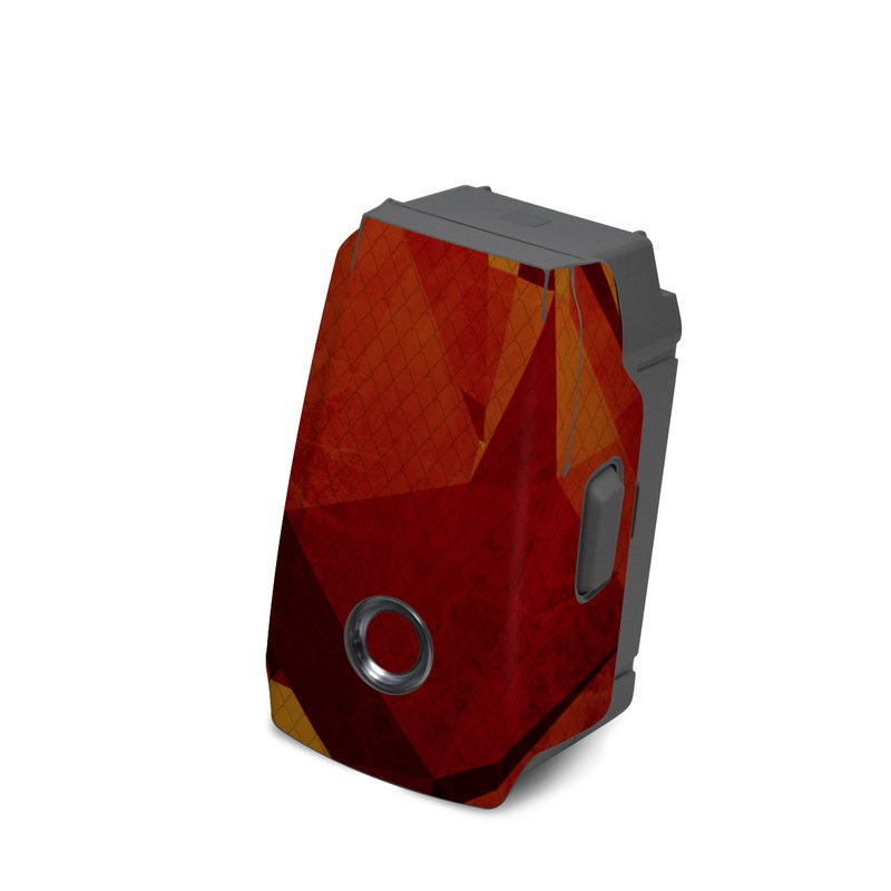 DJI Mavic 2 Battery Skin design with red, orange colors