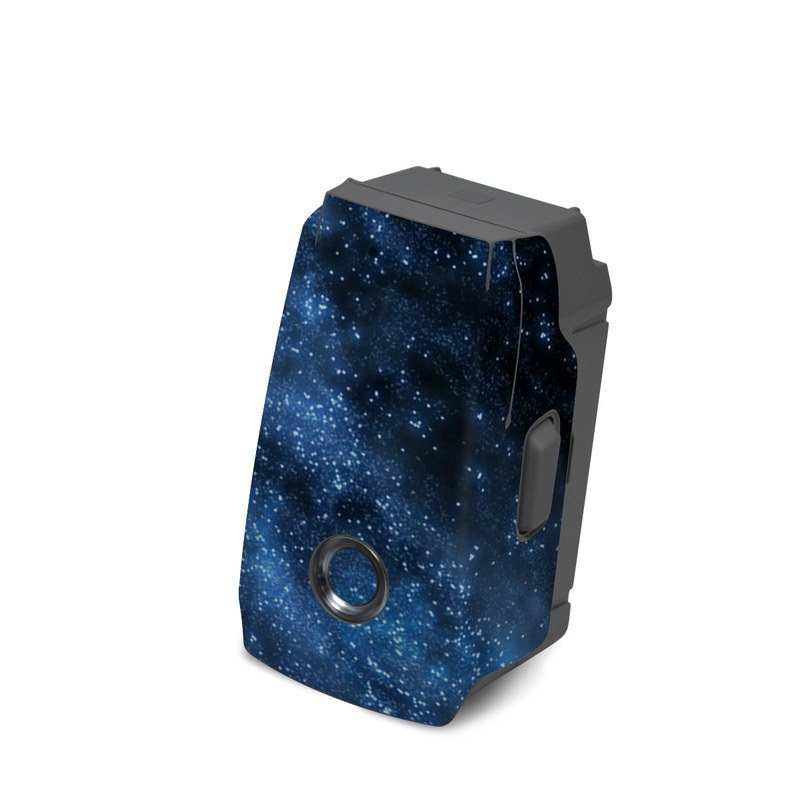 DJI Mavic 2 Battery Skin design of Sky, Atmosphere, Black, Blue, Outer space, Atmospheric phenomenon, Astronomical object, Darkness, Universe, Space with black, blue colors