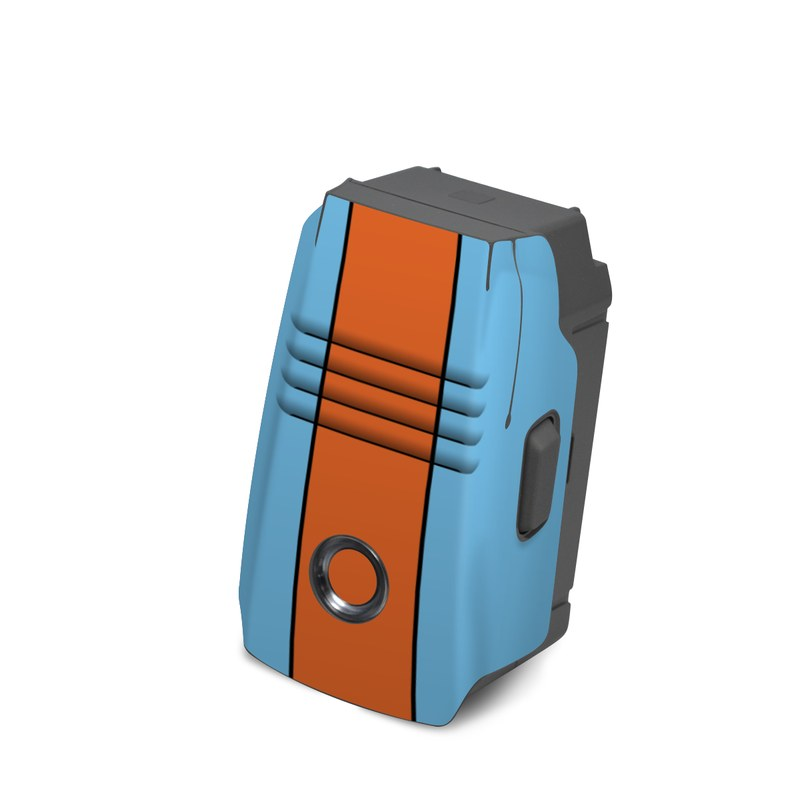 DJI Mavic 2 Battery Skin design with blue, orange colors
