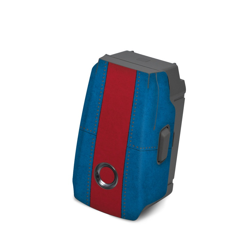 DJI Mavic 2 Battery Skin design with white, blue, red colors