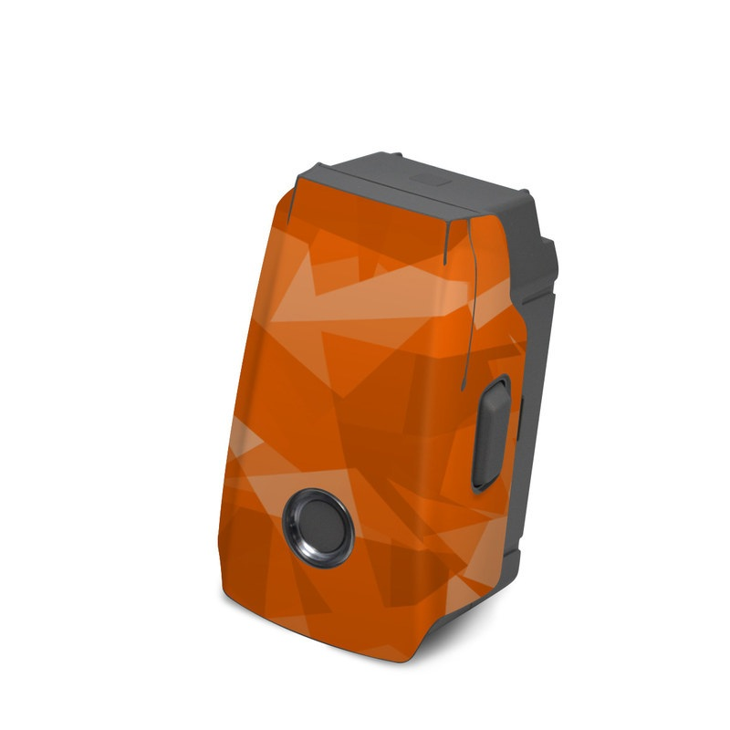 DJI Mavic 2 Battery Skin design with orange colors