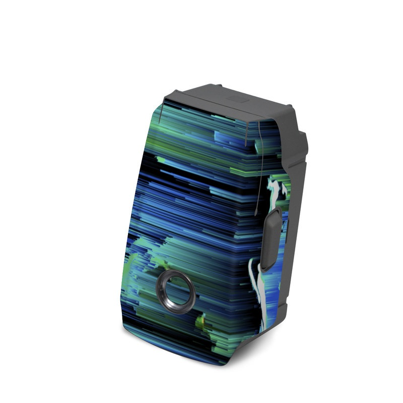 DJI Mavic 2 Battery Skin design of Blue, Green, Turquoise, Light, Colorfulness, Electric blue with blue, green, black, white colors