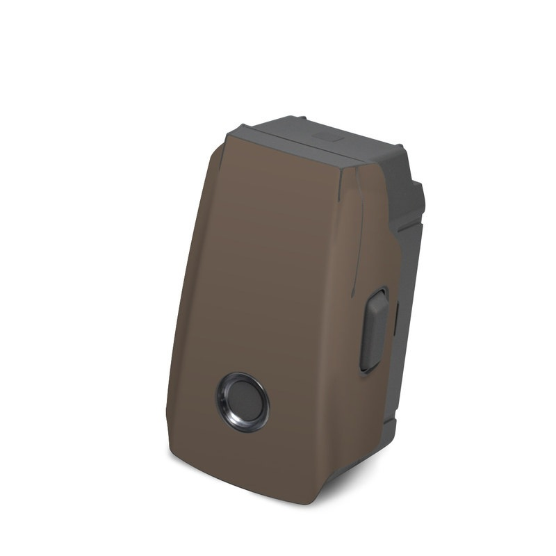 DJI Mavic 2 Battery Skin design of Brown, Text, Beige, Material property, Font with brown colors