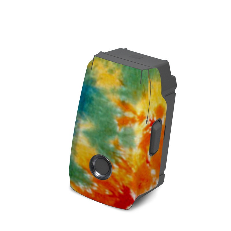 DJI Mavic 2 Battery Skin design of Orange, Watercolor paint, Sky, Dye, Acrylic paint, Colorfulness, Geological phenomenon, Art, Painting, Organism with red, orange, blue, green, yellow, purple colors