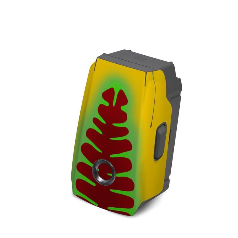 DJI Mavic 2 Battery Skin design with yellow, green, brown colors