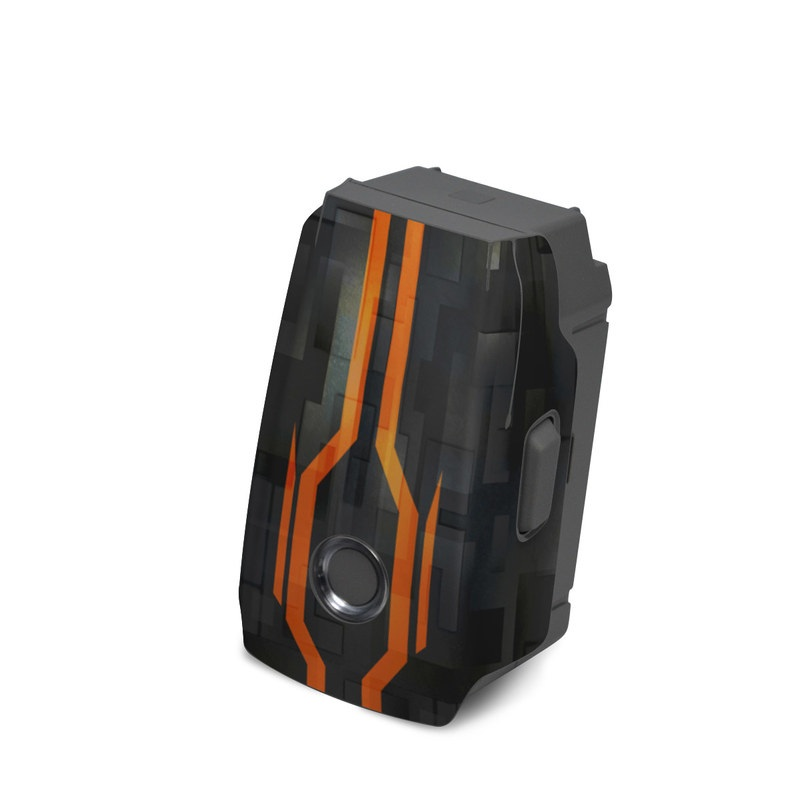 DJI Mavic 2 Battery Skin design with black, gray, orange colors