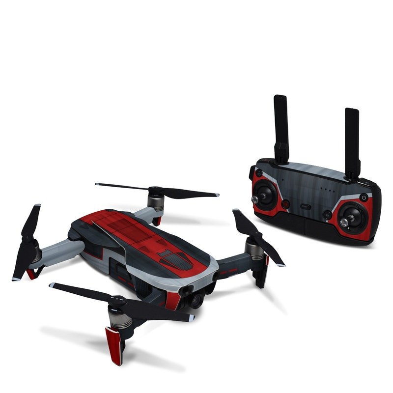 DJI Mavic Air Skin design with black, red, gray colors