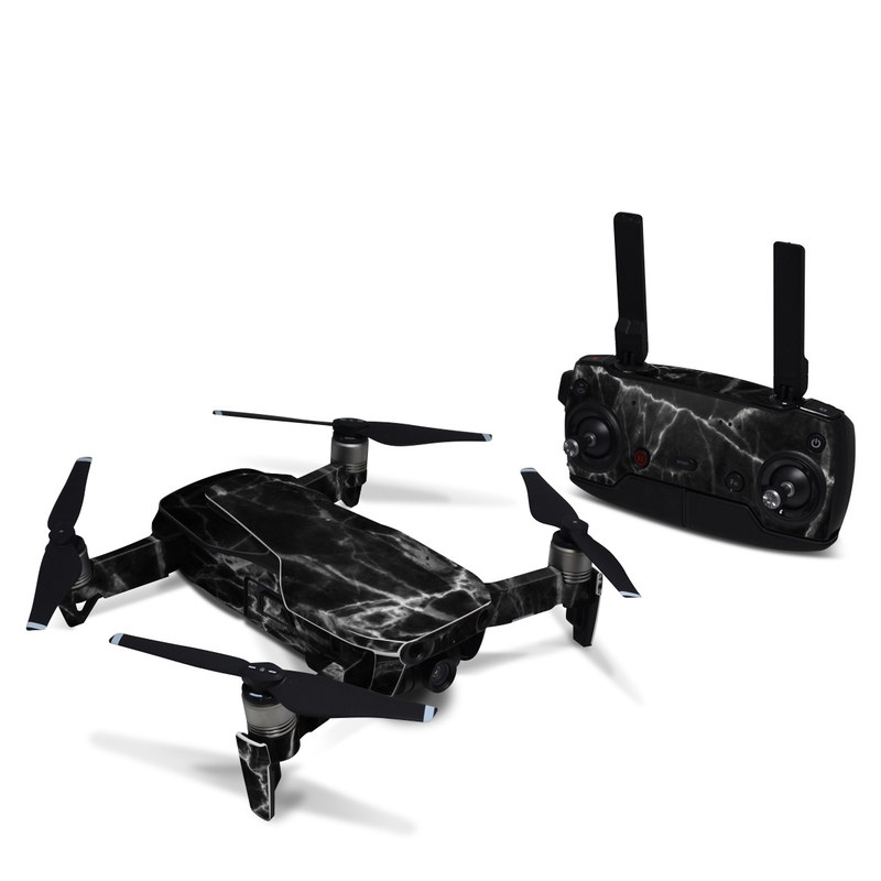 DJI Mavic Air Skin design of Black, White, Nature, Black-and-white, Monochrome photography, Branch, Atmosphere, Atmospheric phenomenon, Tree, Sky with black, white colors