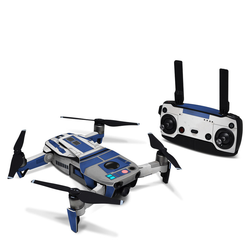 DJI Mavic Air Skin design with blue, gray, green, red colors