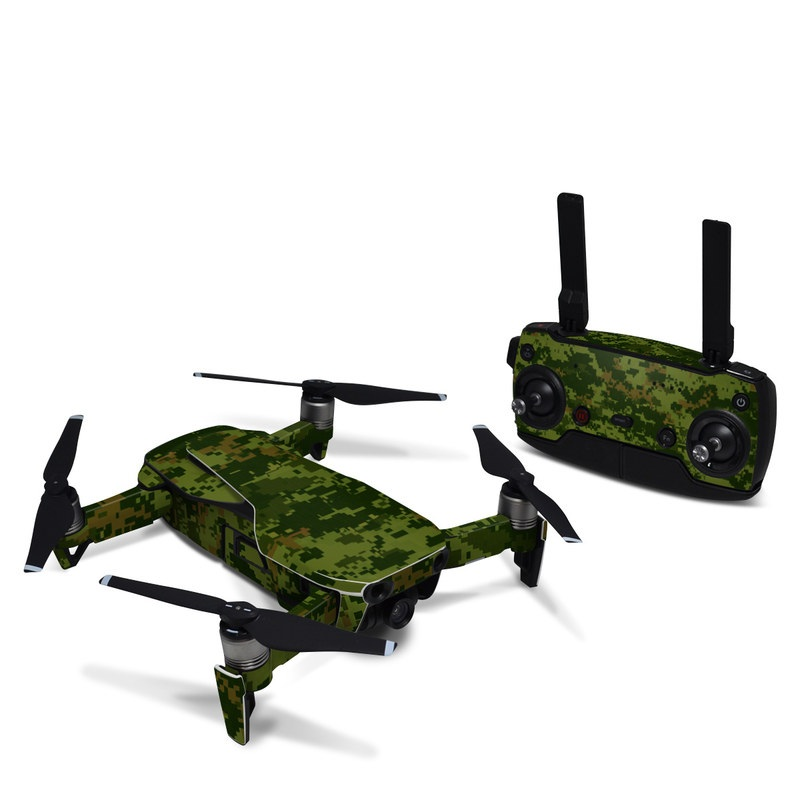 DJI Mavic Air Skin design of Military camouflage, Green, Pattern, Uniform, Camouflage, Clothing, Design, Leaf, Plant with green, brown colors