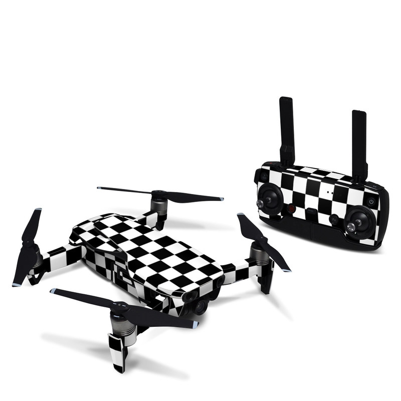 DJI Mavic Air Skin design of Black, Photograph, Games, Pattern, Indoor games and sports, Black-and-white, Line, Design, Recreation, Square with black, white colors