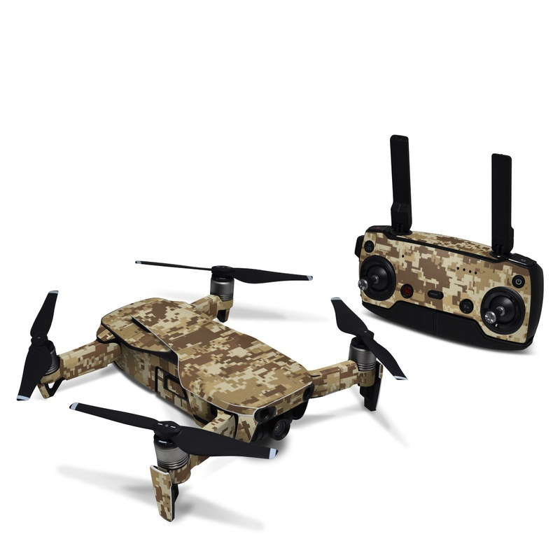DJI Mavic Air Skin design of Military camouflage, Brown, Pattern, Camouflage, Wall, Beige, Design, Textile, Uniform, Flooring with brown colors