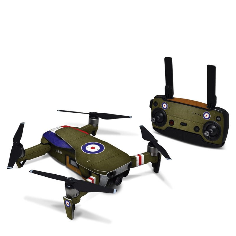 DJI Mavic Air Skin design with green, red, white, blue colors