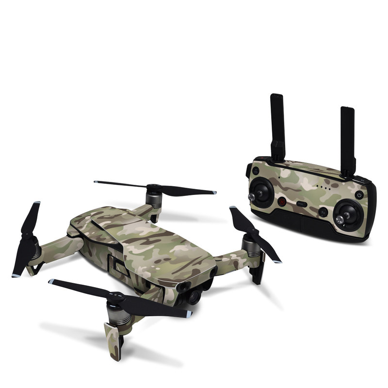 DJI Mavic Air Skin design of Military camouflage, Camouflage, Pattern, Clothing, Uniform, Design, Military uniform, Bed sheet with gray, green, black, red colors