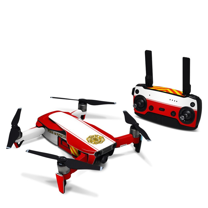 DJI Mavic Air Skin design with white, yellow, orange, red colors
