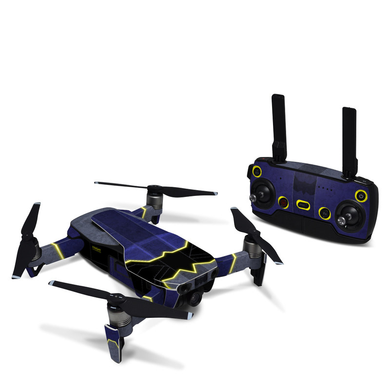 DJI Mavic Air Skin design with black, blue, yellow, gray colors