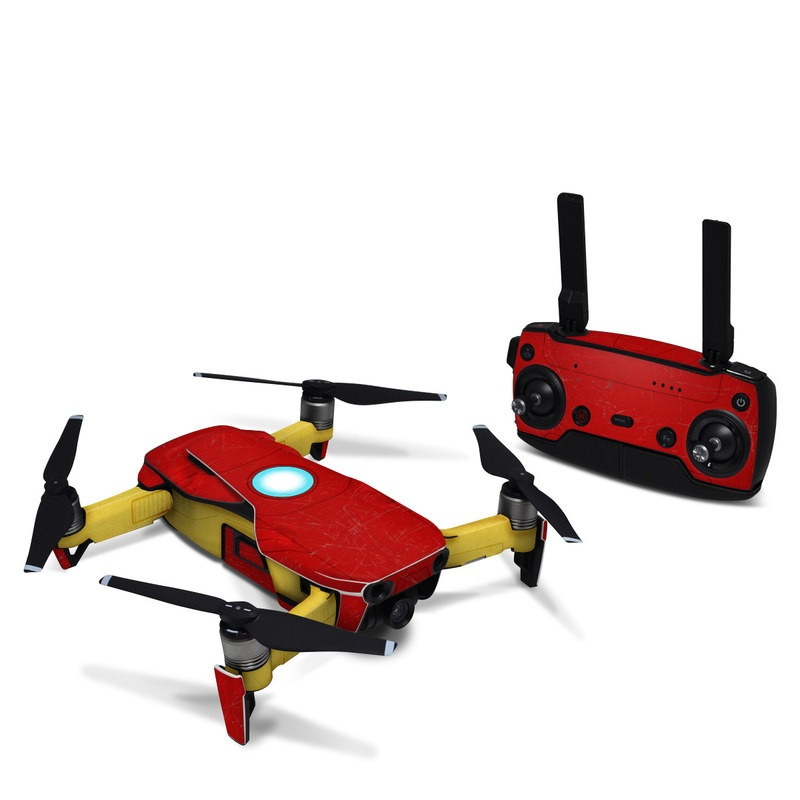 DJI Mavic Air Skin design with red, yellow, white colors